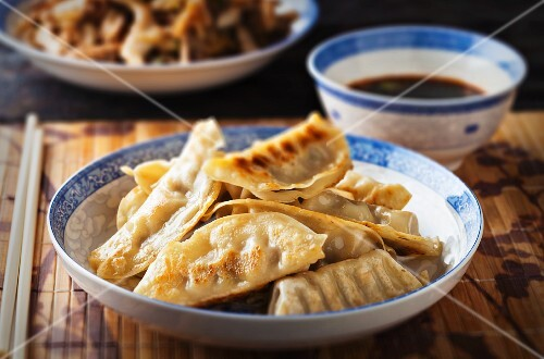 Chinese pork filled dumplings