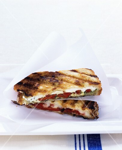 Toasted mozzarella sandwiches