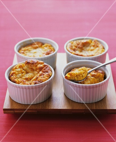 Spicy sweet potato souffl