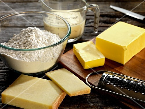 Ingredients for cheese pastries