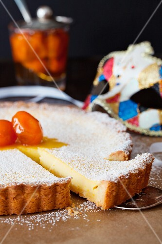 Citrus tart for carnival in Italy