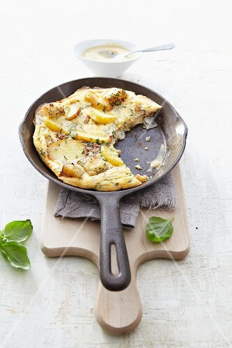 A soused herring and apple omelette