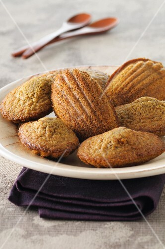 A plate of buckwheat madeleines