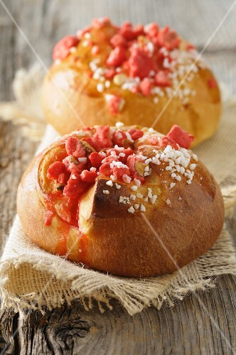 Brioche with sugar and sweets (France)