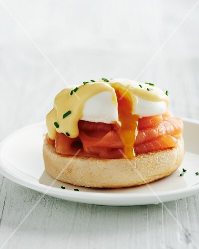 Egg Royale (a roll topped with smoked salmon and a poached egg)