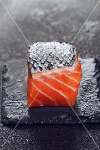 Diced salmon