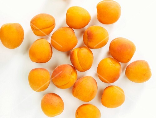 Fresh apricots seen from above