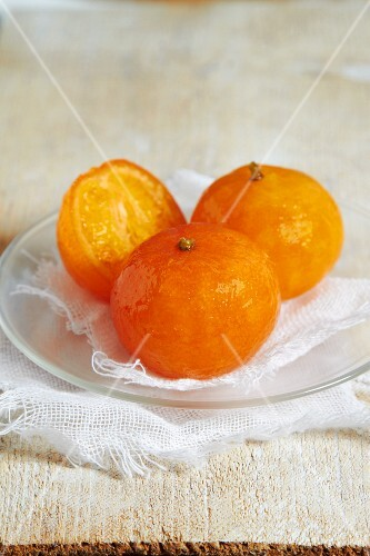 Caramelised mandarins