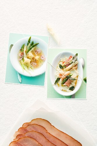 Goes well together: asparagus and ham