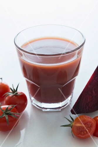 A tomato and beetroot smoothie