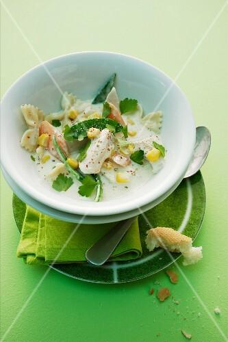 Chicken, pasta and vegetable stew
