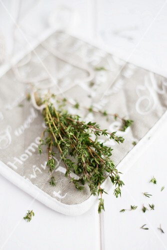 A bunch of fresh thyme
