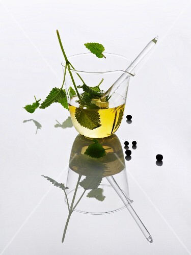Home-made herb oil