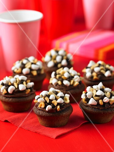 Inside Out Rocky Road cupcakes