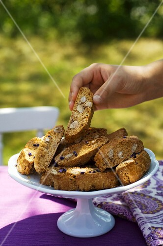 Biscotti on a garden table