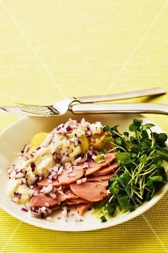 Smoked turkey breast with potato salad