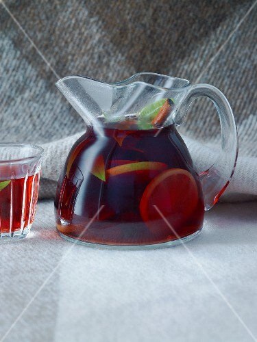 El Duro (a tea-based drink made with spices, port wine and maple syrup)