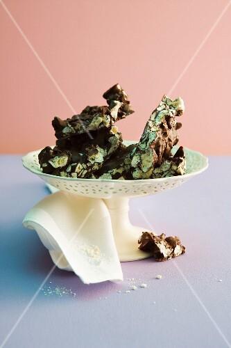 Chocolate meringue slices