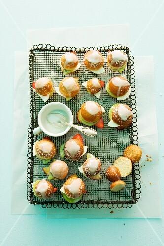 Mini fruit doughnuts