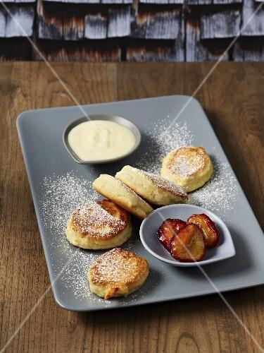 Fried quark dumplings