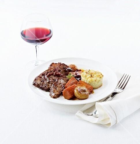 Passover brisket (slow braised kosher beef)