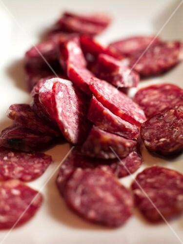 Salami slices (close-up)