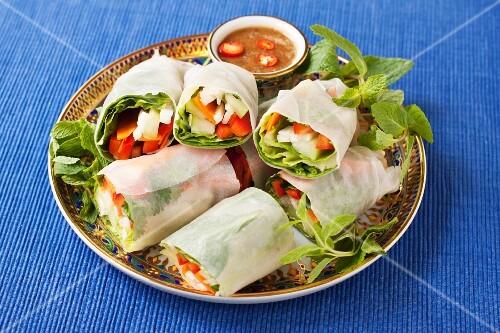 Vegetable spring rolls (vegan, gluten free)