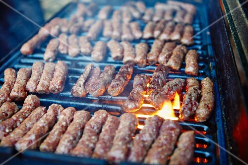 Cevapcici on a barbecue