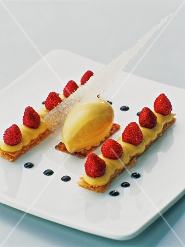 A strawberry and vanilla dessert
