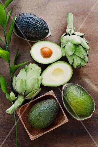 Avocados and artichokes
