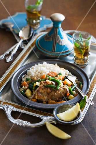Chicken tajine with couscous (North Africa)