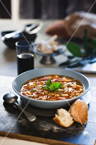 Tuscan lamb and bean soup