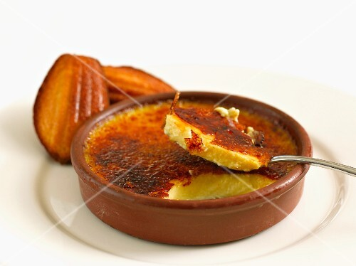 Creme brulee and madeleines