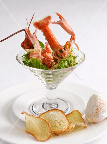 Lobster cocktail with crisps