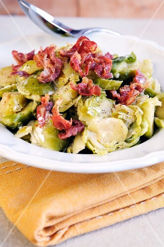 Brussels sprouts with Pancetta and cream