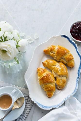 Gluten free croissants for breakfast