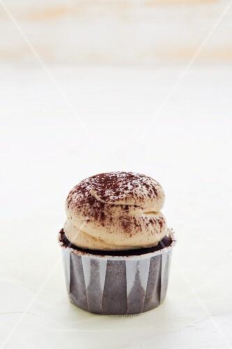 A tiramisu cupcake