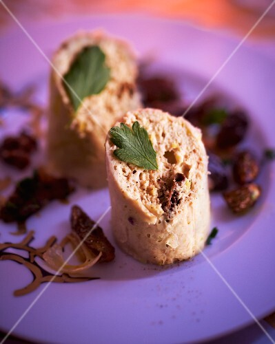 Chicken and turkey pate with morel mushrooms