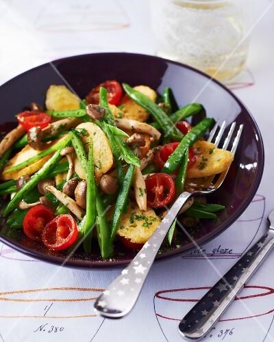 Stir-fried vegetables with mushrooms
