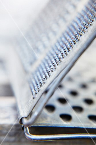 A metal grater (detail)
