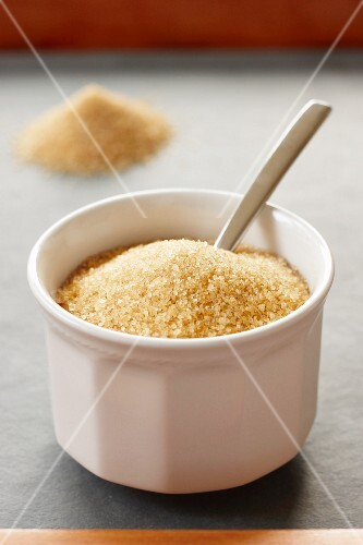 Brown sugar in a small bowl