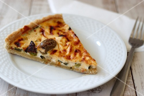 A slice of olive quiche
