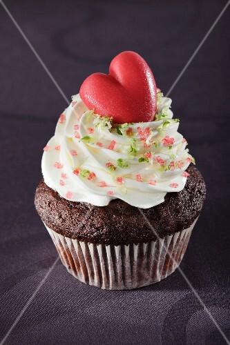 A romantic cupcake