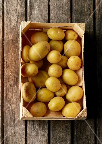 A crate of potatoes