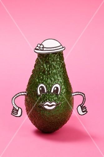 An avocado with a face