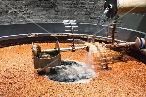 A vat to process mash to make whisky