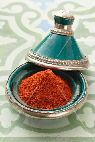A pile of padauk in a tagine