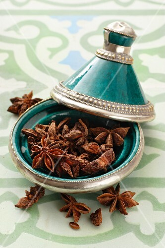 Star anise in a tagine