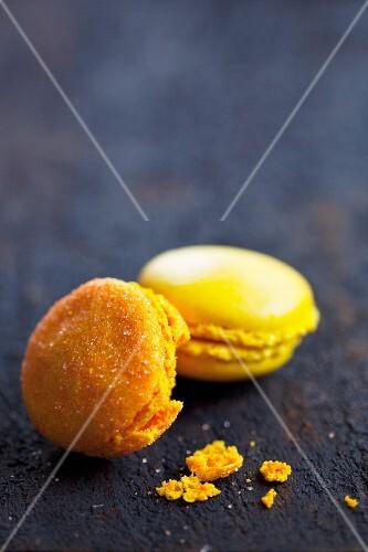 Lemon and orange macaroons