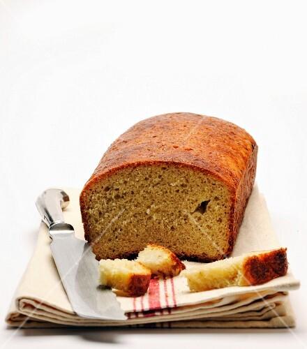 Potato bread on a tea towel